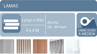 Decoración estores verticales aluminio