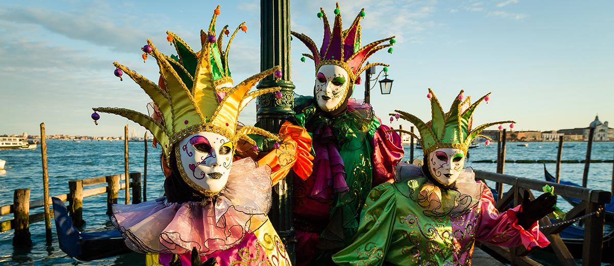 Estas venecianas son para el carnaval