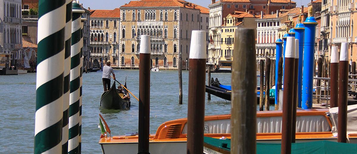 Esta madera de Venecia es vertical