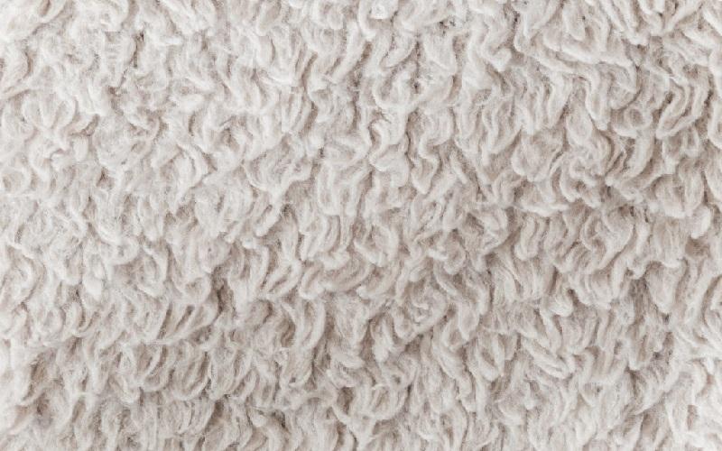 moqueta lana blanca